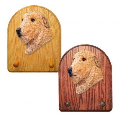 Irish Wolfhound Dog Wooden Oak Key Leash Rack Hanger Fawn 1