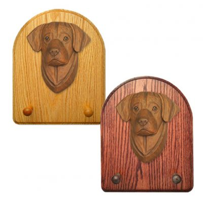 Labrador Retriever Dog Wooden Oak Key Leash Rack Hanger Chocolate 1