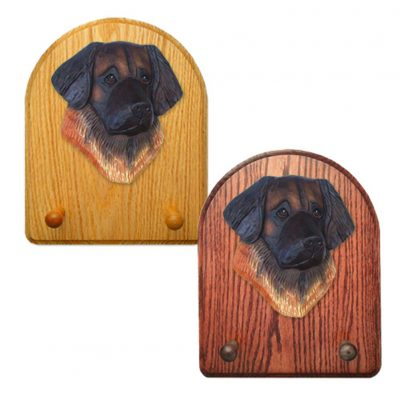 Leonberger Dog Wooden Oak Key Leash Rack Hanger 1