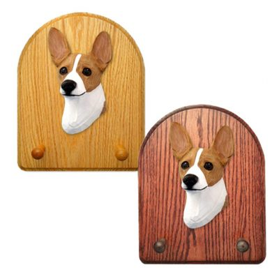 Rat Terrier Dog Wooden Oak Key Leash Rack Hanger Red 1