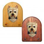 Yorkshire Terrier Dog Wooden Oak Key Leash Rack Hanger Puppy Cut