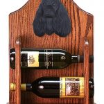 Cocker Spaniel Dog Wood Wine Rack Bottle Holder Figure Blk 1