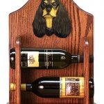 Cocker Spaniel Dog Wood Wine Rack Bottle Holder Figure Blk/Tan 1