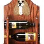 Cocker Spaniel Dog Wood Wine Rack Bottle Holder Figure Brn Parti 1