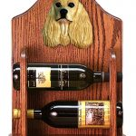 Cocker Spaniel Dog Wood Wine Rack Bottle Holder Figure Buff 1