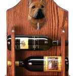 Staffordshire Terr Dog Wood Wine Rack Bottle Holder Figure Red 1