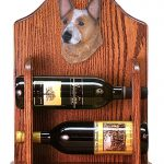 Australian Cattle Dog Wood Dog Wood Wine Rack Bottle Holder Figure Red 1
