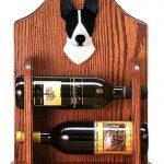 Basenji Dog Wood Wine Rack Bottle Holder Figure Blk/Wht 1
