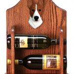 Basenji Dog Wood Wine Rack Bottle Holder Figure Red/Wht 1