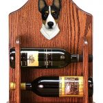 Basenji Dog Wood Wine Rack Bottle Holder Figure Tri 1
