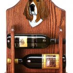 Basset Hound Dog Wood Wine Rack Bottle Holder Figure Tri 1