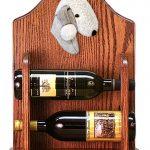 Bedlington Terrier Dog Wood Wine Rack Bottle Holder Figure Blu 1