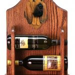 Bloodhound Dog Wood Wine Rack Bottle Holder Figure 1