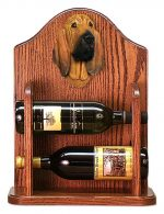 Bloodhound Dog Wood Wine Rack Bottle Holder Figure
