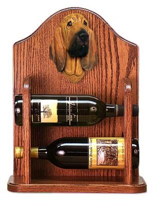 Bloodhound Dog Wood Wine Rack Bottle Holder Figure 1