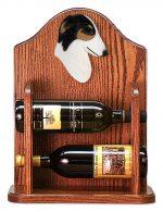 Borzoi Dog Wood Wine Rack Bottle Holder Figure Tri