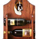 Boxer Dog Wood Wine Rack Bottle Holder Figure Fawn 1