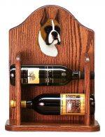 Boxer Dog Wood Wine Rack Bottle Holder Figure Fawn