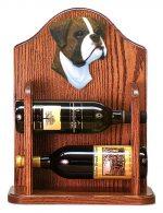 Boxer natural Dog Wood Wine Rack Bottle Holder Figure Brin
