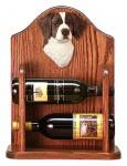 Brittany Dog Wood Wine Rack Bottle Holder Figure Liver