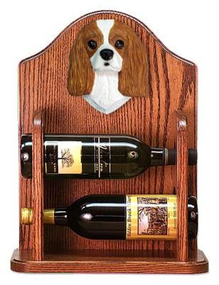 Cavalier Charles Dog Wood Wine Rack Bottle Holder Figure Blen
