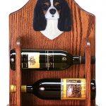 Cavalier Charles Dog Wood Wine Rack Bottle Holder Figure Tri 1