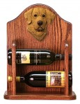 Chesapeake Bay Retriever Dog Wood Wine Rack Bottle Holder Figure