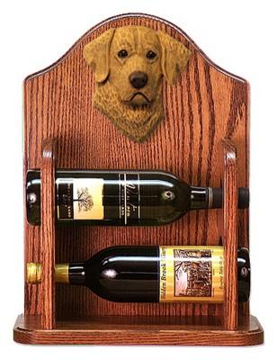 Chesapeake Bay Retriever Dog Wood Wine Rack Bottle Holder Figure 1