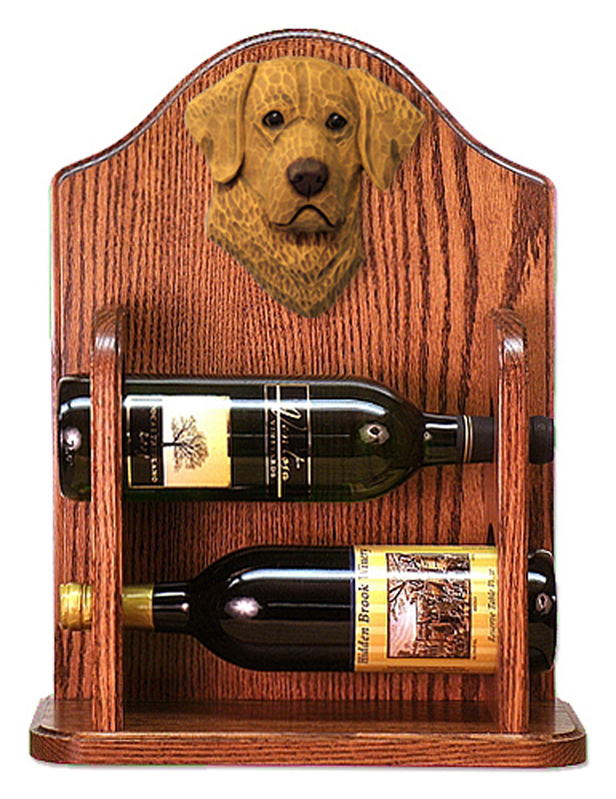 Chesapeake Bay Retriever Dog Wood Wine Rack Bottle Holder Figure
