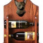 Chihuahua Dog Wood Wine Rack Bottle Holder Figure Blk 1