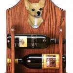 Chihuahua Dog Wood Wine Rack Bottle Holder Figure Fawn 1