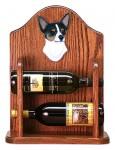 Chihuahua Dog Wood Wine Rack Bottle Holder Figure Tri