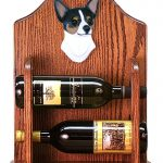 Chihuahua Dog Wood Wine Rack Bottle Holder Figure Tri 1