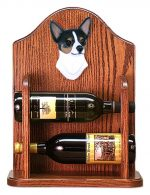 Chihuahua Dog Wood Wine Rack Bottle Holder Figure Tri