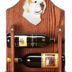 Clumber Spaniel Dog Wood Wine Rack Bottle Holder Figure Lemon 1