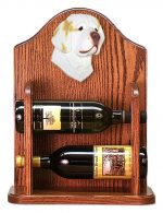 Clumber Spaniel Dog Wood Wine Rack Bottle Holder Figure Lemon