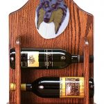 Collie Dog Wood Wine Rack Bottle Holder Figure Blu 1