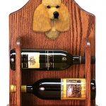 Poodle Dog Wood Wine Rack Bottle Holder Figure Apricot 1