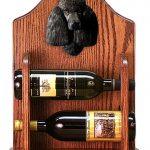 Poodle Dog Wood Wine Rack Bottle Holder Figure Blk 1