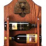 Poodle Dog Wood Wine Rack Bottle Holder Figure Brn 1