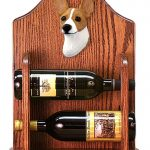 Rat Terrier Dog Wood Wine Rack Bottle Holder Figure Red 1