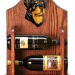 Rottweiler Dog Wood Wine Rack Bottle Holder Figure 1