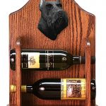 Schnauzer Dog Wood Wine Rack Bottle Holder Figure Blk 1