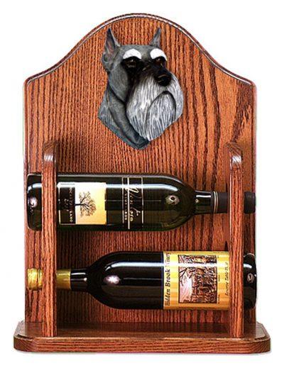 Schnauzer Dog Wood Wine Rack Bottle Holder Figure Salt/Pep 1