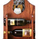 Sheltie Wood Dog Wood Wine Rack Bottle Holder Figure Blu 1