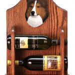 Sheltie Wood Dog Wood Wine Rack Bottle Holder Figure Sable 1