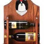 Shih Tzu Dog Wood Wine Rack Bottle Holder Figure Blk/Wht 1
