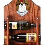 Shih Tzu Dog Wood Wine Rack Bottle Holder Figure Gold/Wht 1