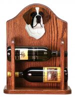 St. Bernard Dog Wood Wine Rack Bottle Holder Figure