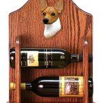 Toy Fox Terrier Dog Wood Wine Rack Bottle Holder Figure Red/Wht 1